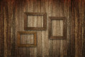 Old wooden picture frames Royalty Free Stock Photo
