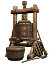 Old wooden press