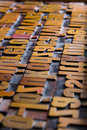 Old wooden printing type Stock Photography