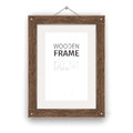 Old Wooden Rectangle Frame Light Royalty Free Stock Photo