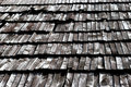 Old wooden roof tiles Royalty Free Stock Photos