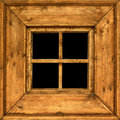 Old wooden rural window frame Stock Photography