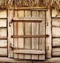 Old wooden rustic door Royalty Free Stock Photo