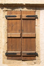 Old wooden shutters Stock Photography