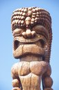 Old wooden statue of a god Stock Photos