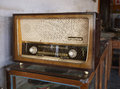 Old wooden stereo in thailand Stock Photography