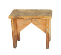 Old Wooden Stool Isolated Royalty Free Stock Image
