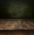 Old Wooden Table With Dark Bac...
