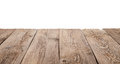 Old Wooden Table Isolated On W...