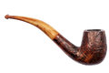 Old wooden tobacco pipe Royalty Free Stock Photo