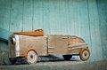 Old wooden toy car Royalty Free Stock Photo