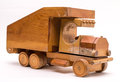 Old Wooden Toy Truck Royalty Free Stock Photo