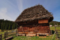 Old wooden traditional house from transylvania apuseni mountains Stock Photos