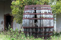 Old wooden vat and abandoned Stock Photos