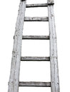 Old wooden vintage cuve ladder isolated over white background Royalty Free Stock Photos