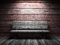 Old wooden wall and bench Royalty Free Stock Image