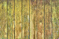 Old wooden wall painted yellow background Stock Images