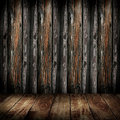 Old wooden wall and wooden floor Stock Images