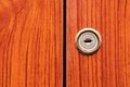 Old wooden wardrobe doors close up Stock Image
