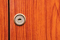 Old wooden wardrobe doors close up Stock Photo