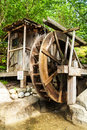 Old Wooden Water Mill With The...