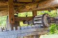 Old wooden watermill . Royalty Free Stock Photo
