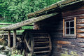 Old wooden waterwheel watermill Royalty Free Stock Photo
