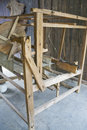 Old Wooden Weaving Machine Royalty Free Stock Photo