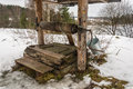 Old wooden well. Stock Photography