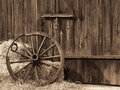 Old wooden wheel Royalty Free Stock Images