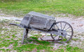 Old Wooden Wheelbarrow Royalty Free Stock Images