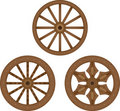 Old wooden wheels Royalty Free Stock Photography