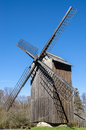 Old wooden windmill, close-up Royalty Free Stock Photo