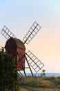 Old wooden windmill, Sweden Royalty Free Stock Photos