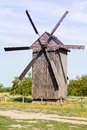 Old wooden windmill in ukraine Royalty Free Stock Photos