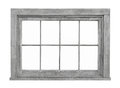 Old wooden window frame isolated. Royalty Free Stock Photo
