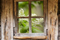 Old Wooden Window Frame, Sprin...