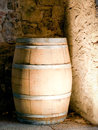 Old wooden wine cask farmhouse Stock Images
