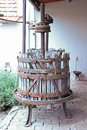 Old wooden wine press Royalty Free Stock Photo