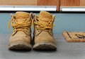 Old work boots Royalty Free Stock Photo