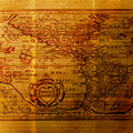 Old World Cartography Map - Grungy background Royalty Free Stock Image