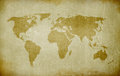 Old world map Royalty Free Stock Photo