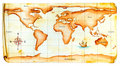 Old world map Royalty Free Stock Photos