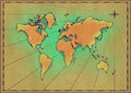 Old world map on paper Royalty Free Stock Image