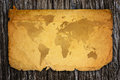 Old world map on paper Royalty Free Stock Photography