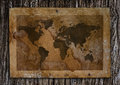 Old world map on paper Royalty Free Stock Images