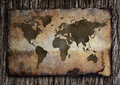 Old world map on paper Stock Photo