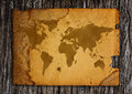 Old world map on paper Royalty Free Stock Photo