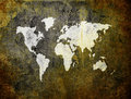 Old world map on retro paper Royalty Free Stock Photos