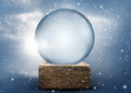 Old world vintage snow globe a empty christmas Stock Photography